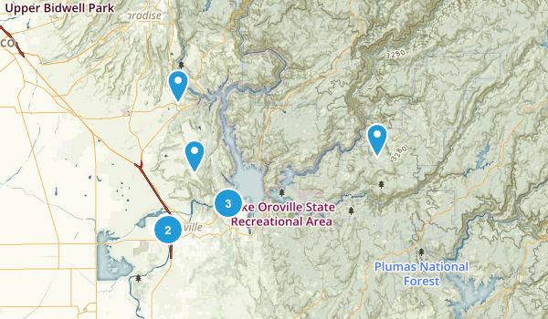 Oroville, California Trail Running Map