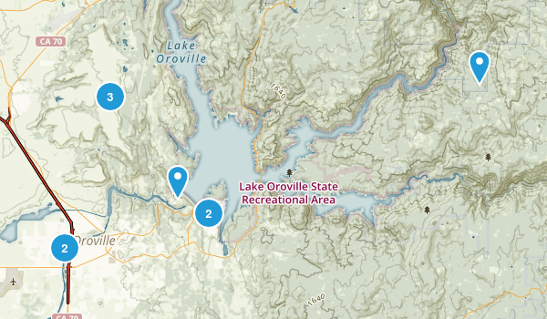 Oroville, California Walking Map