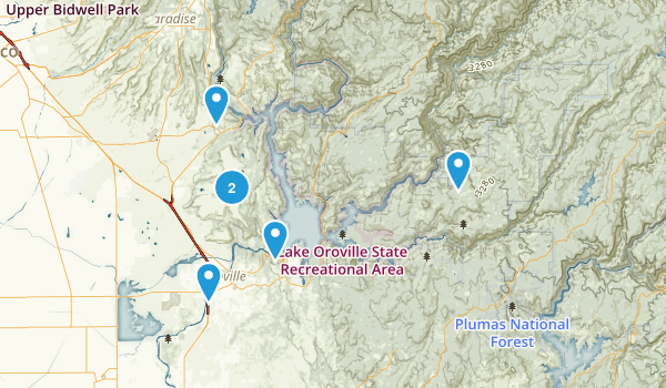 Oroville, California Wild Flowers Map
