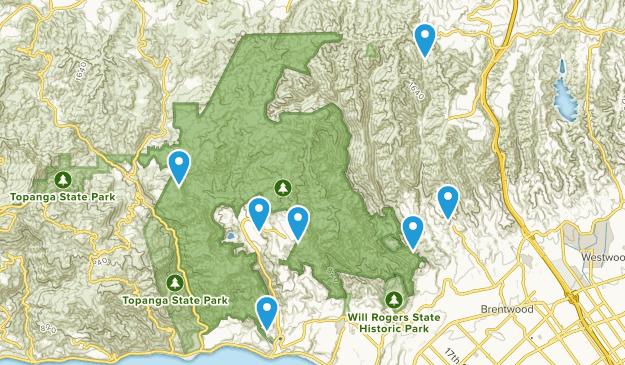 Pacific Palisades, California Mountain Biking Map