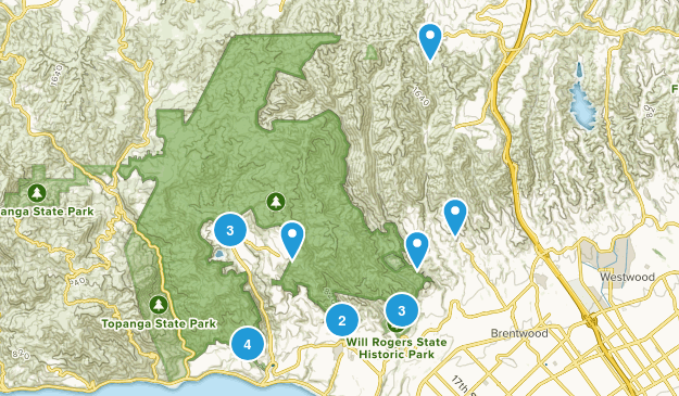 Pacific Palisades, California Nature Trips Map