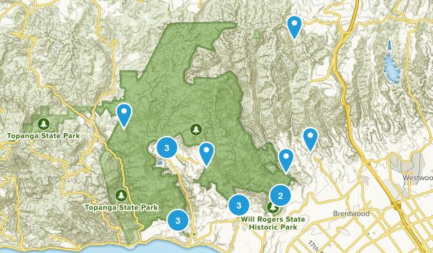 Pacific Palisades, California Walking Map
