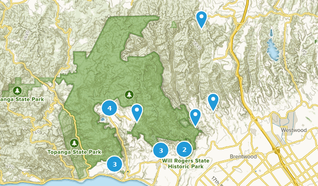 Map Of Trails Near Pacific Palisades California Alltrails