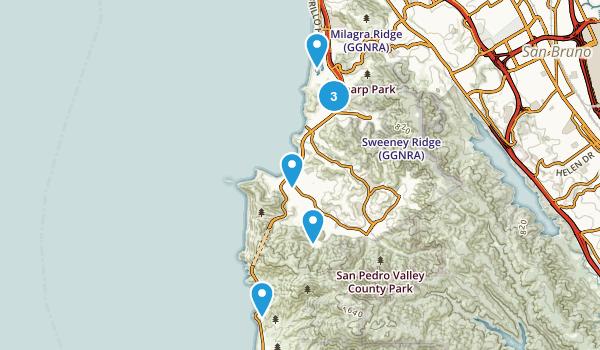 Pacifica, California Beach Map
