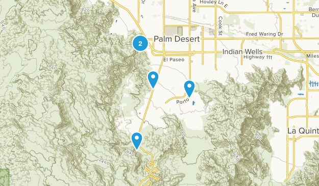 Palm Desert, California Birding Map