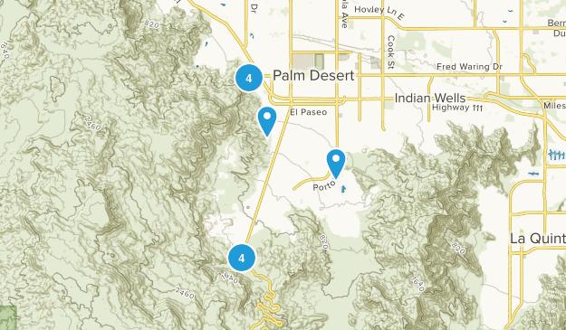 Palm Desert, California No Dogs Map