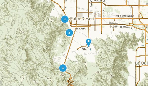 Palm Desert, California Hiking Map