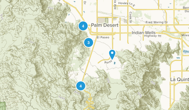 Palm Desert, California Hiking Map