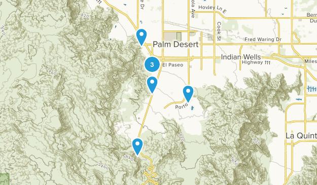 Palm Desert, California Kid Friendly Map