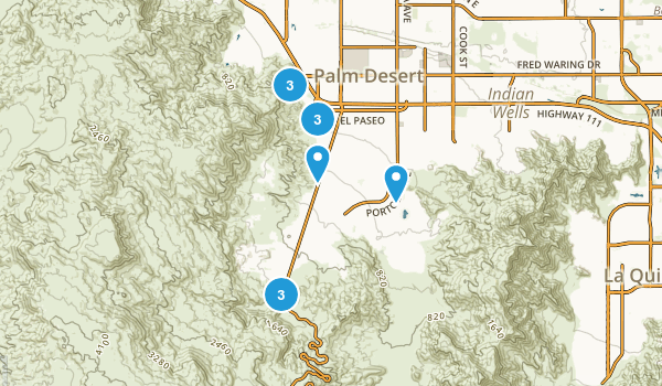 Palm Desert, California Views Map