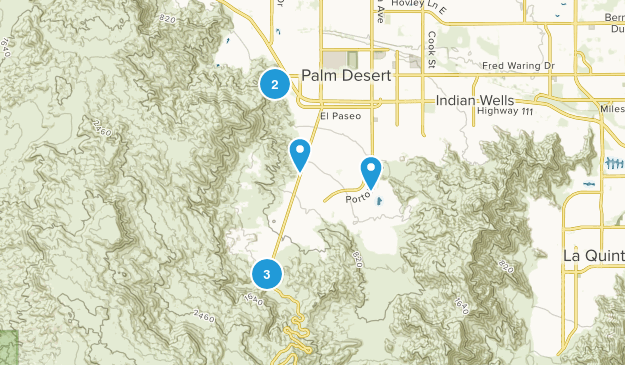 Palm Desert, California Wildlife Map