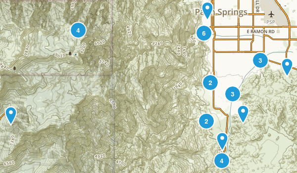 Palm Springs, California Birding Map