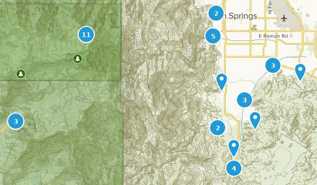 Palm Springs, Kalifornien Bird Watching Map