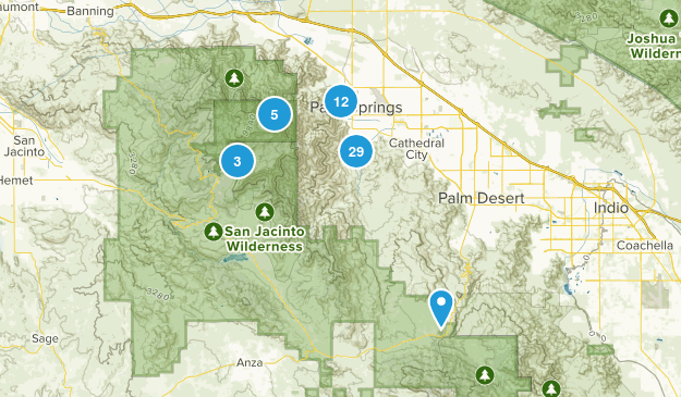 Palm Springs, California Hiking Map