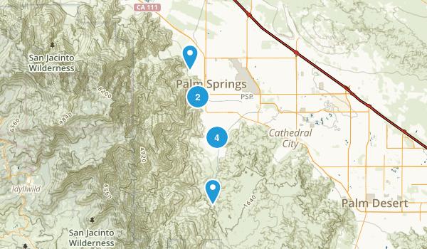 Palm Springs, California Horseback Riding Map