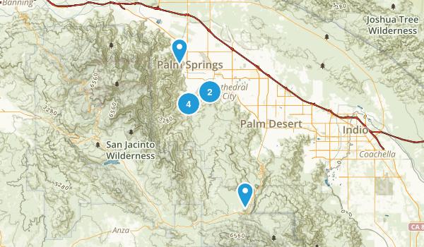 Palm Springs, California Mountain Biking Map