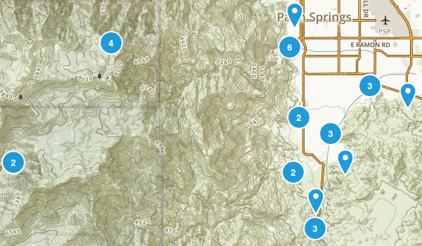 Palm Springs, California Nature Trips Map