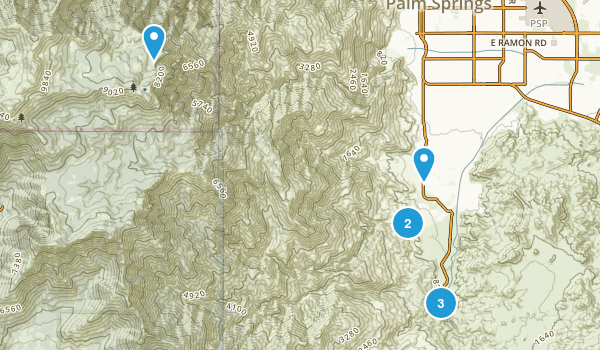 Palm Springs, California River Map