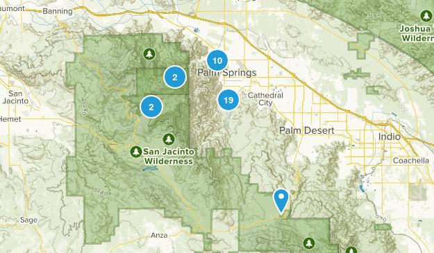 Palm Springs, California Trail Running Map