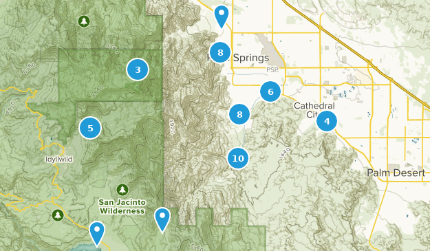 Map Of California Showing Palm Springs.Best Trail Running Trails Near Palm Springs California Alltrails