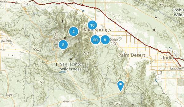 Palm Springs, California Views Map