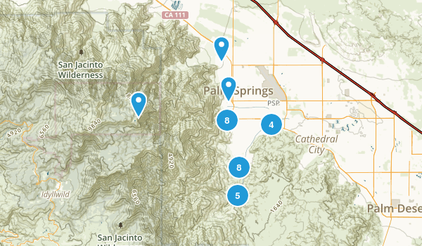 Palm Springs, California Walking Map