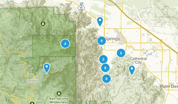 Palm Springs, California Walking Map