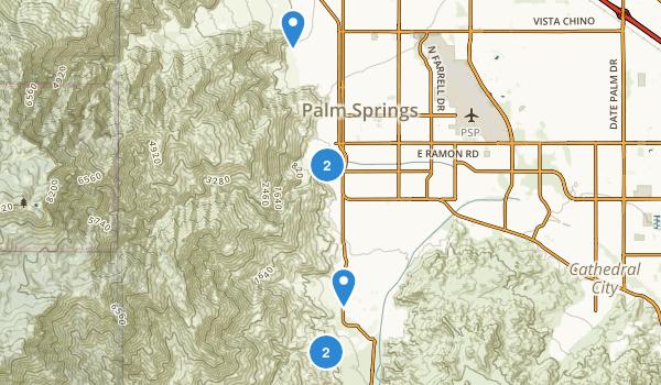 Palm Springs, California Waterfall Map