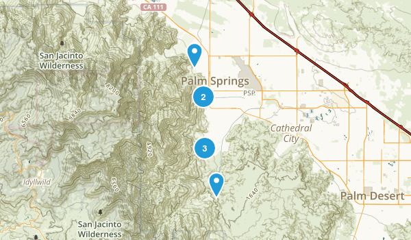 Palm Springs, California Waterfall Map