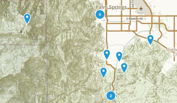 Palm Springs, California Wildlife Map