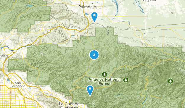 Palmdale, California Hiking Map