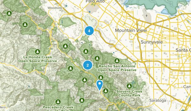 Palo Alto, California Horseback Riding Map