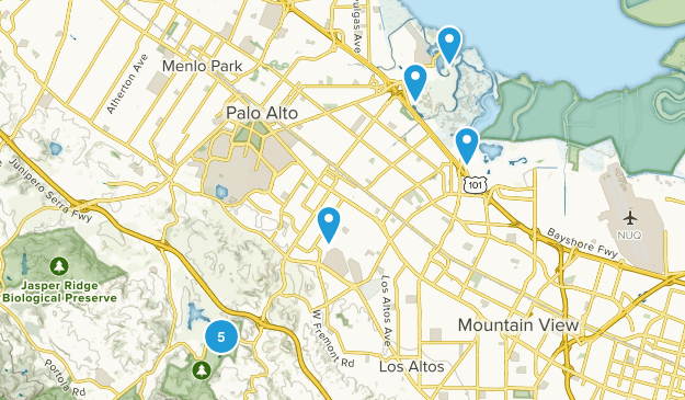 Palo Alto, California Kid Friendly Map