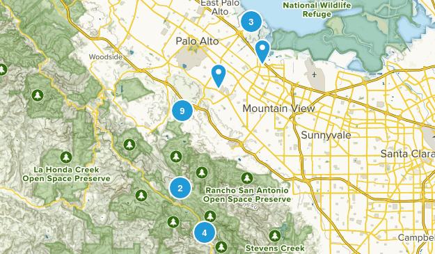 Palo Alto, California Walking Map