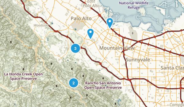 Palo Alto, California Wildlife Map