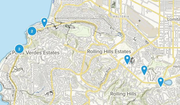 Palos Verdes Peninsula, California Hiking Map