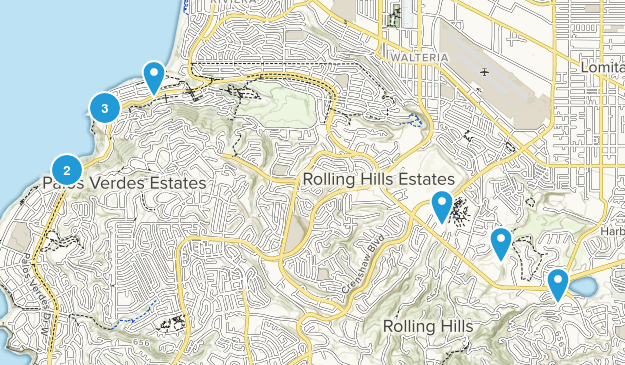 Palos Verdes Peninsula, California Hiking Map