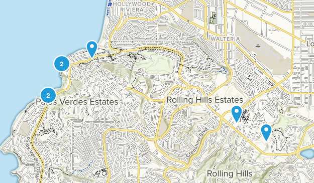 Palos Verdes Peninsula, California Views Map
