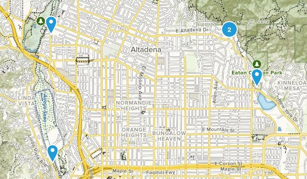 Pasadena, California Birding Map