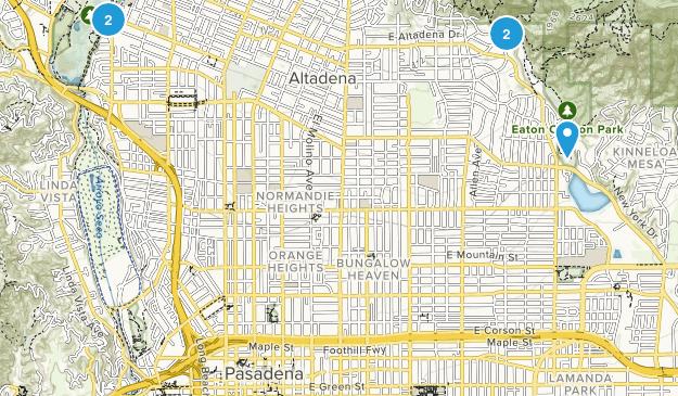 Pasadena, California Forest Map