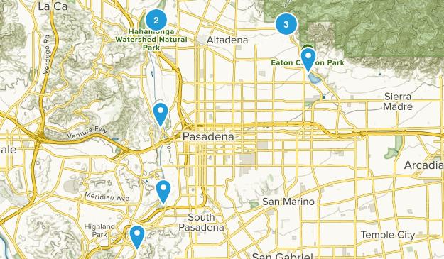 Pasadena, California Hiking Map