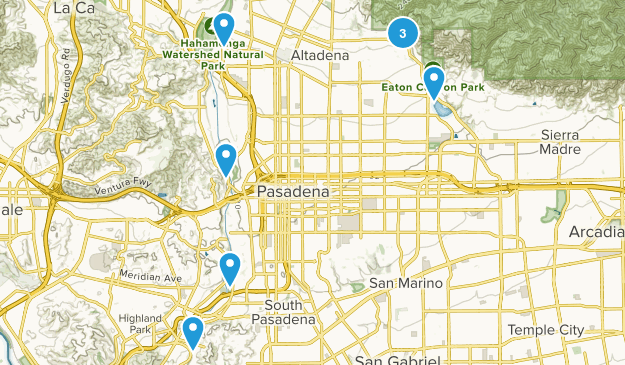 Pasadena, California Walking Map