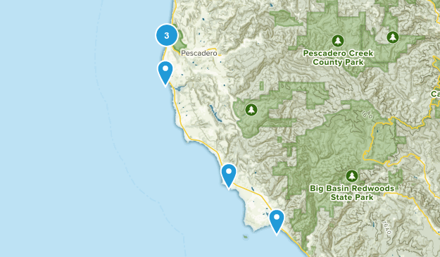 Pescadero, California Beach Map