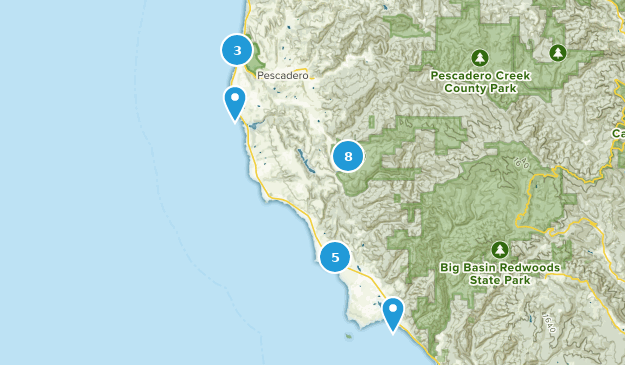 Pescadero, Kalifornien Bird Watching Map