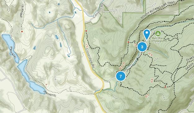 Pescadero, California Forest Map