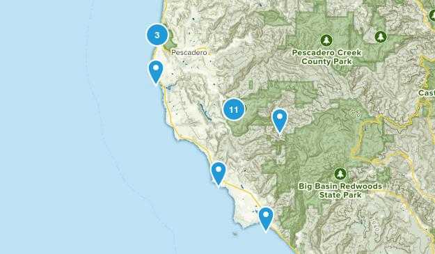 Pescadero, California Hiking Map