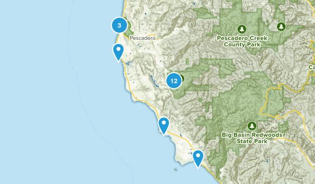 Pescadero, California Walking Map