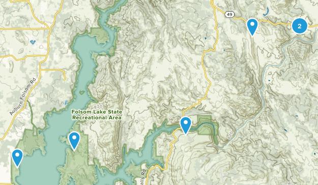 Pilot Hill, California Trail Running Map