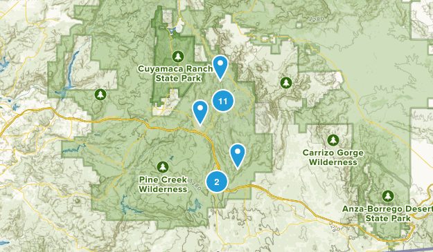 Pine Valley, California Birding Map