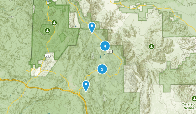 Pine Valley, California Dog Friendly Map